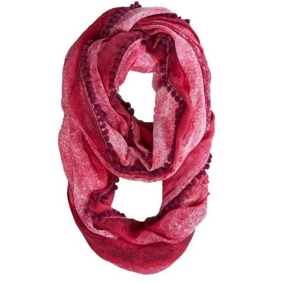 Pink watercolor wrap scarf